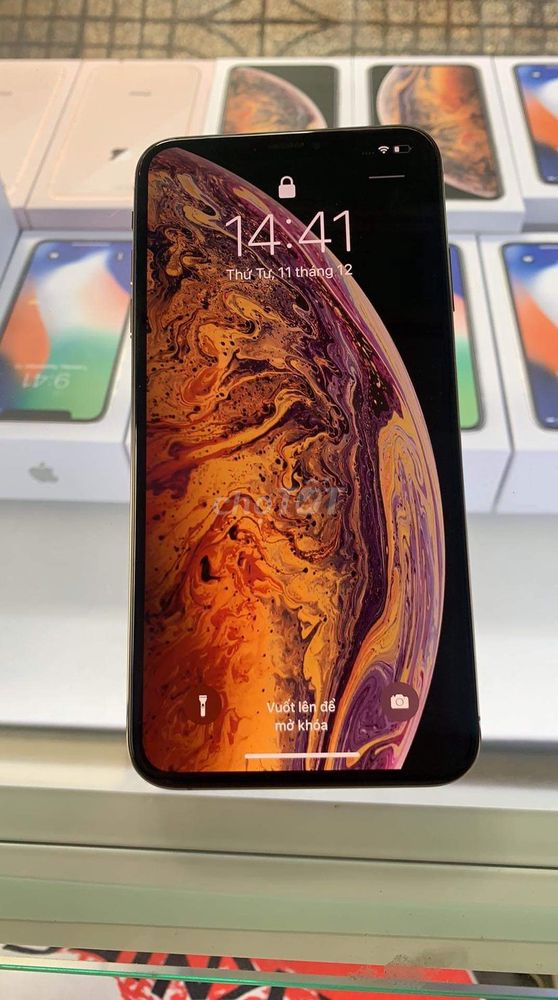 Iphone xsm lock 64g gold zin all.có trả góp lải 1%
