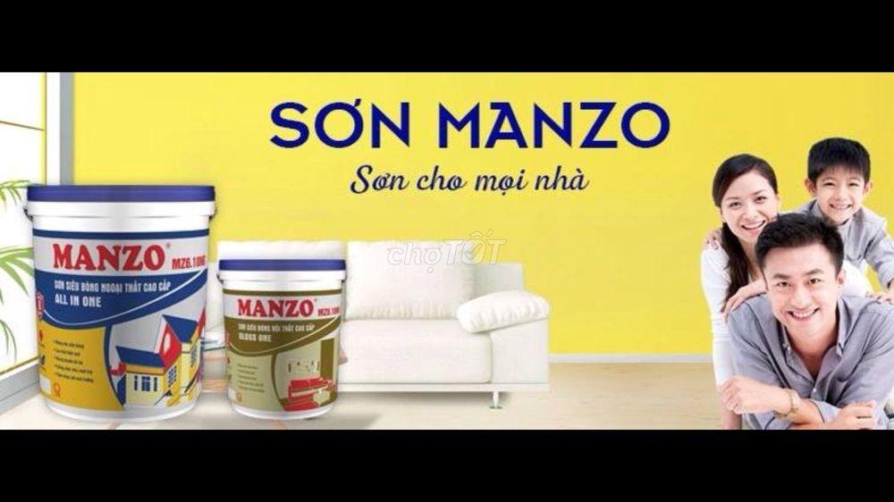 Sơn nhà trọn gói nhãn hiệu Manzo