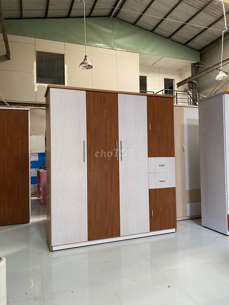 0935923287 - Tủ áo quần ngang 1m6, sale 10% hàng có sẵn, ht gop