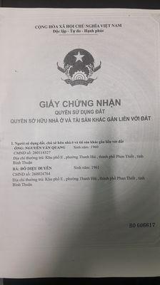 Nhà & đất Hiền Vương,Thanh Hải 409.7m2 (Chính chủ)