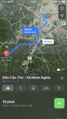 Bán mặt tiền quốc lộ 61C địa phận cần thơ 2,5tr/m2