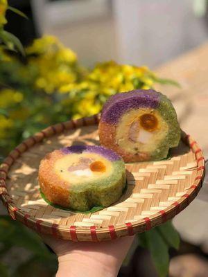 Bánh tét Trà Cuôn đặc sản Trà Vinh
