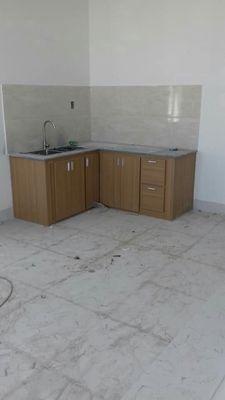 Tủ lavabo, mặt tủ cầu thang vân gỗ