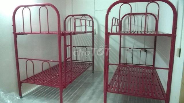 giường sắt hai tầng, ngang 80,1m,1m2_VCMP HCM
