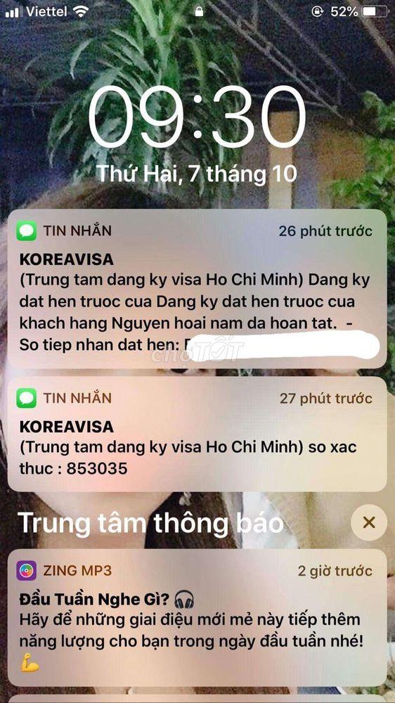 Đặt lịch visa Hàn Quốc để du lịch Hàn Quốc tháng11