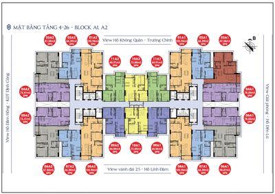 Chung cư Sky Central - 176 Định Công 72.85m² 2PN