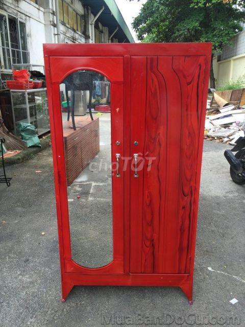 tủ sắt quần áo sơn dầu mới 100%_FS HCM