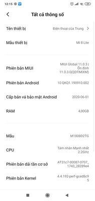 Xiaomi Mi 8 Lite Đen 64 GB