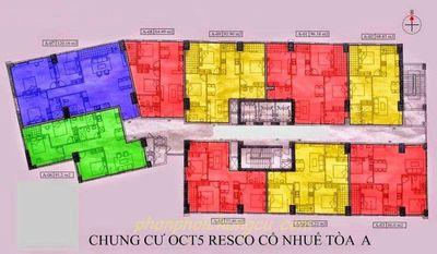 Chung cư OCT5A KDT Resco 86m² 3PN