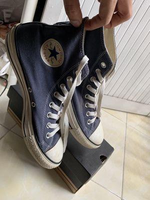 giày Converse cổ cao xanh Navy real size 41