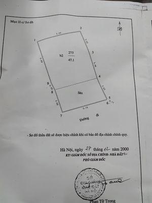 Bán đất Minh Khai,Kim Ngưu,50m2, MT 5.1,ngõ thông