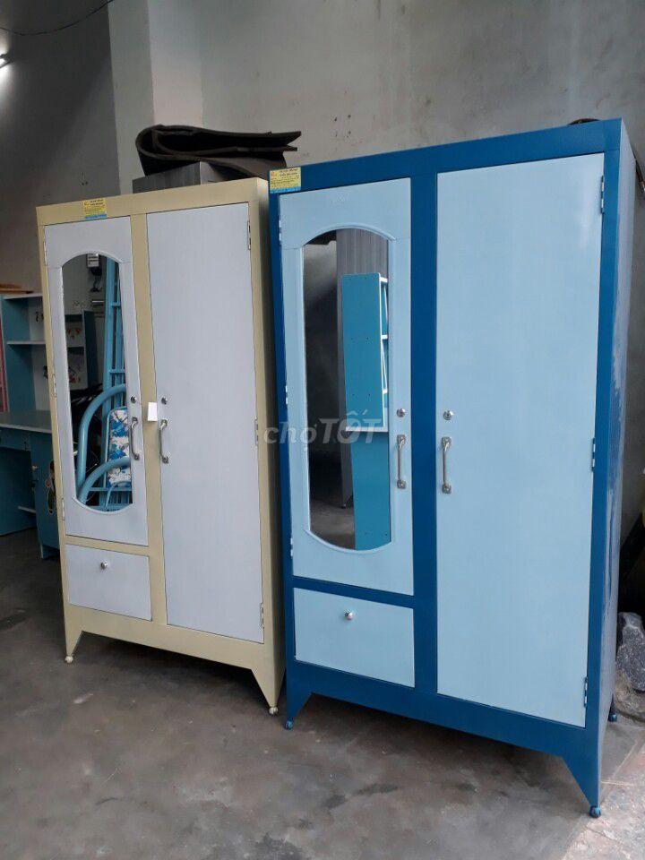 tủ sắt sơn dầu đựng quần áo mẫu mới, FSHIP