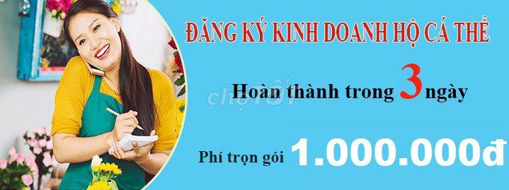 DV đăng ký Hộ Kinh Doanh - trọn gói 1.000.000đ