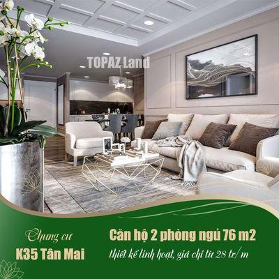Chung cư Quận Hoàng Mai 76m² 2PN