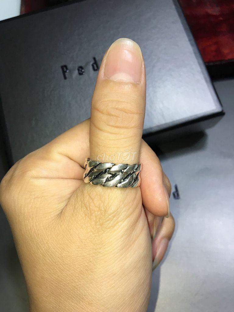 0933282562 - Nhẫn bạc ngoại size 19