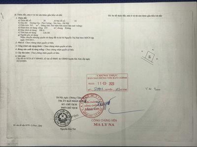 Cần bán 60m2 đường oto tại Hương Gia - Phú Cường