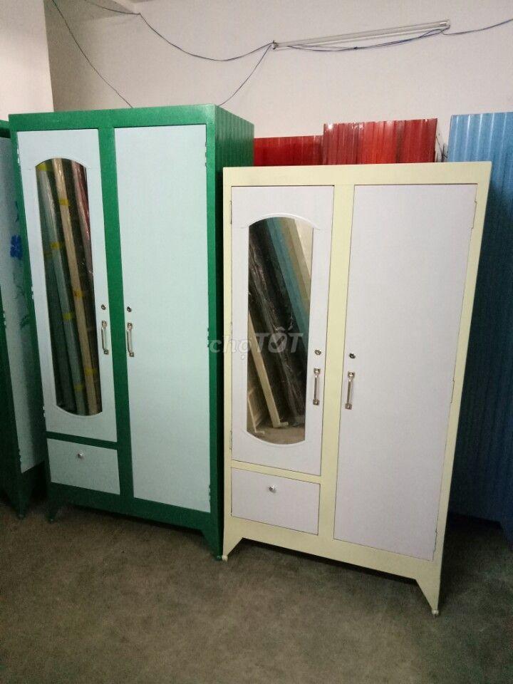 tủ sắt quần áo sơn dầu (mới 100%)
