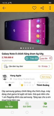 Cần mua màn hình galaxy note 8