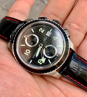 Aerowatch Sport Carbon Dial Chronograph Automatic