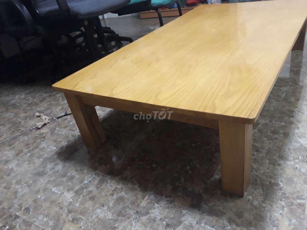 0913512138 - Bàn làm việc gỗ tự nhiên ngồi bệt kt rộng 80, dài