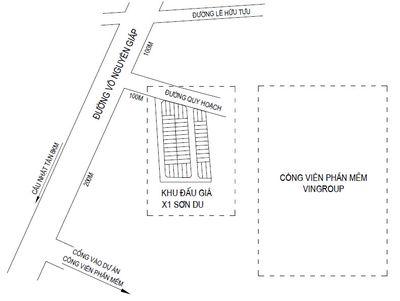 Đất đấu giá X1 Sơn Du Nguyên Khê 37tr/m2 đường 8m