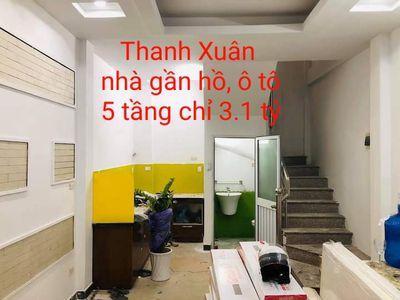 3.1 tỷ nhà Thanh Xuân 30m2x5T gần hồ, ở ngay
