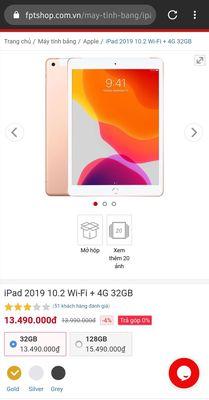 iPad 2019 10.2 wifi + 4G
