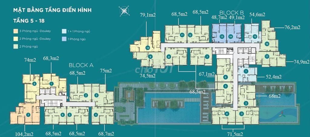 Căn hộ A9-7 dt 105m Dlusso vườn rộng 300m 3pn 3Wc