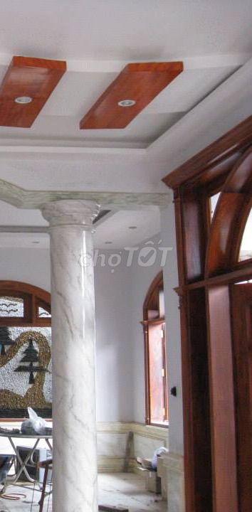 Sơn giả đá vân gỗ cẩm thạch, cột 3d