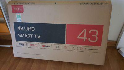 Tv 4k Tcl 43 và 50in mới nguyên hộp