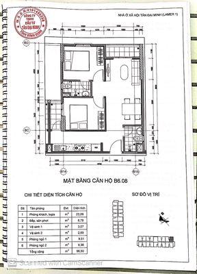 Chung cư Thành phố Qui Nhơn 52m² 2PN