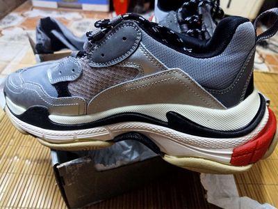 Giày Balenciaga Triple S | Full Box | Bạc |Size 43