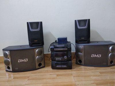 Dàn trung Panasonic ak20 và 1 cặp loa BMB