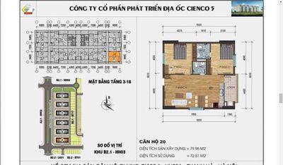 Cần bán căn góc chung cư Thanh Hà cenco5