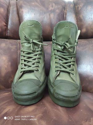giày Converse Cổ cao Xanh quân đội