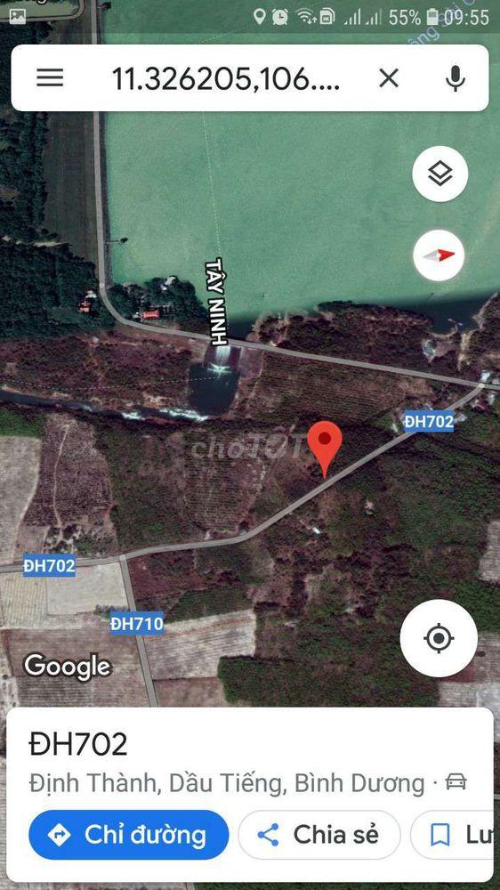 Đất sổ đỏ  5300m(51× 100 -120) huyen dau tieng