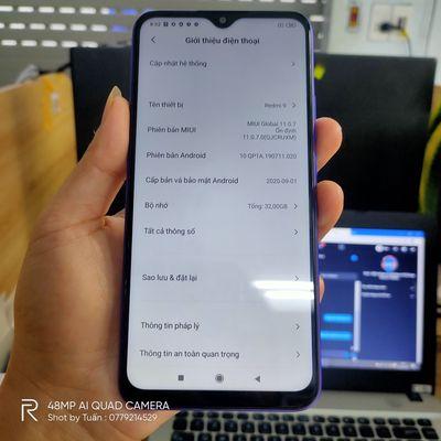Điện thoại xiaomi redmi 9,2 Sim,5000 mah,mới 99%