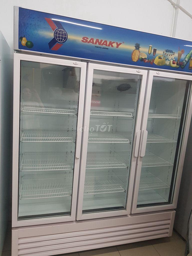 tủ mát 3 cánh Sanaky 1508L mới 88%, bh 6 thang