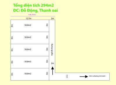 Bán đất ở Đỗ Động - Đầu tư Đỉnh - 294m2 chia 5 lô