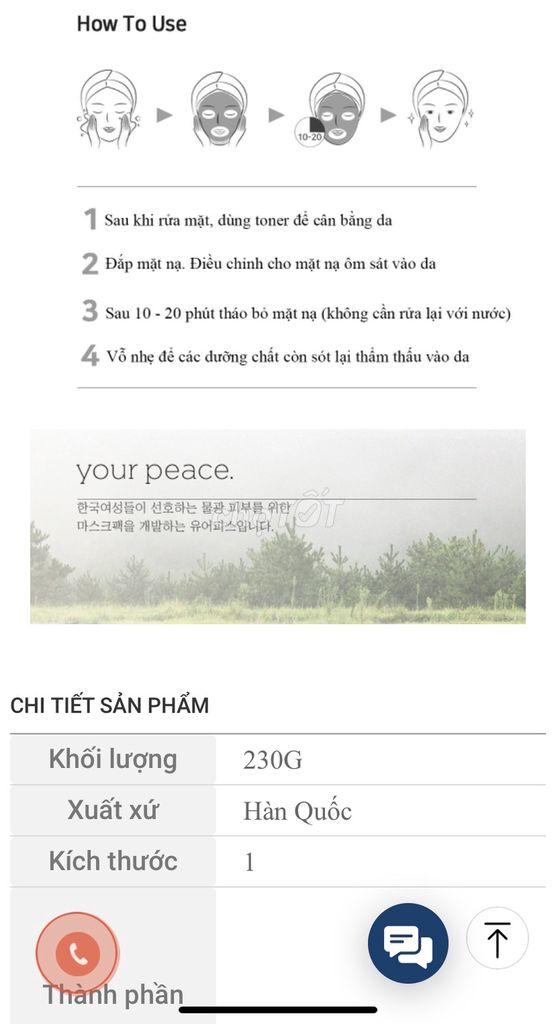 0938805188 - Mặtnạ giấy Your Peace