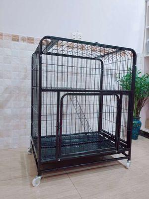 Lồng, chuồng nuôi chó mèo thỏ 3 cửa 78x55x100cm