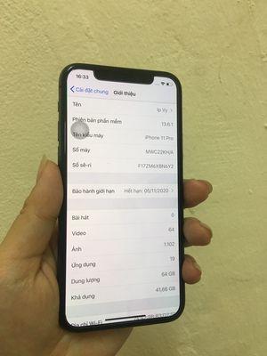 Apple iPhone 11 Pro 64 GB đen zip áp còn bh
