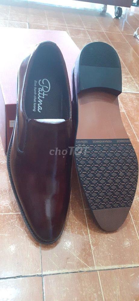giày lười da bò đánh màu thủ công patina