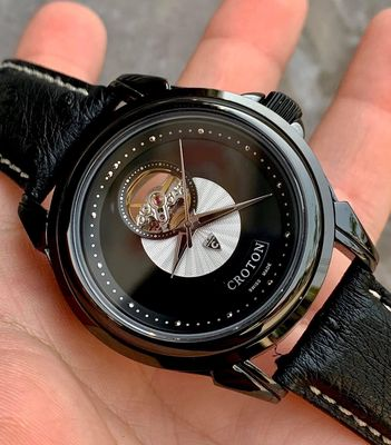 Croton OpenHeart Black DLC Coating Automatic 43mm