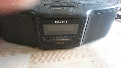 Xác 2 máy hát đĩa sony