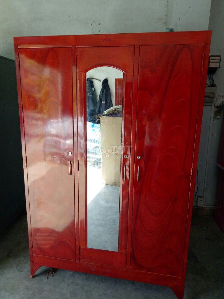 tủ sắt 3 cửa, sơn dầu mới 100%, MPVC HCM