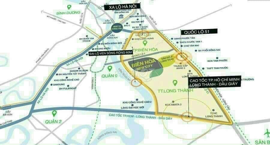 Đất nền biệt thự Bien Hoa New City - 83713007