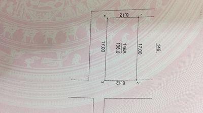 Đất thổ cư (8,12x17)