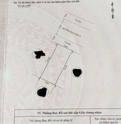 Bán lô 60m2 TĐC Xi Măng, gần ngay mặt chợ Hoa Quả,