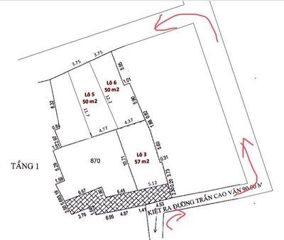 Giá rẻ đất đường Trần Cao Vân